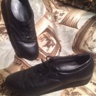 WOMEN'S SOFT SPOTS ALL DAY COMFORT BLACK LEATHER  WALKING SHOES SIZE