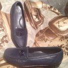 "SAS ""JEWEL"" BLUE LEATHER TRIPAD COMFORT LOAFERS WOMEN'S SIZE 7N Shoes"