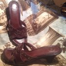 WOMEN'S BROWN NUTURE LEGEND SANDALS STRAPS LEATHER COMFORT SOLES SZ 8M