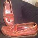 MEN'S HIGHLAND CREEK BOOTS & SHOES SIZE 8M BROWN LEATHER TASSLE LOAFERS SHOES