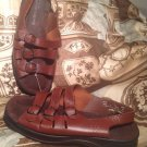 CLARKS SPRINGERS WOMEN'S BROWN TRIPLE STRAP BUCKLE SLINGBACK SANDALS SHOES 7.5W