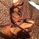 Xhilaration Tan Brown Strap Buckle Sandals Platforms Slingback Women's SIZE 7.5M