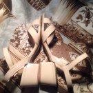 DEXFLEX COMFORT WOMEN'S SIZE 9W SANDALS ANKLE STRAPS TAUPE DISPLAYS MRSP $69