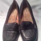 Softspots Women's Shoes Black Leather Penny Loafer Pumps Heels Sz 7.5M Nice