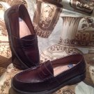 NUNN BUSH LINCOLN MEN'S BURGANDY LEATHER PENNY LOAFERS~ SIZE 7M EXCELLENT COND
