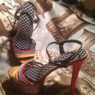 WOMEN'S SHOES JESSICA SIMPSON SKYE Strappy Platform Sandal Heels MULTI COLOR