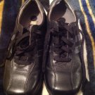Mens SKECHERS Black/Gray Lace Up Leather Casual Shoes Size 8 M *NICE CONDITION*