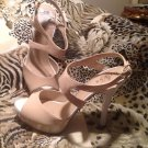 GUESS - WOMENS WG PRITA HEELS - LIGHT TAN SYNTHETIC - GOOD CONDITION SHOES -  7M