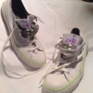 Unisex Converse WHITE W/LIME & PURPLE STRIPE Classic Low Rise Men SZ 6 Women's 8