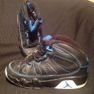 DS NIKE JORDAN 9 RETRO BLACK PHOTO BLUE SIZE 1Y YOUTH KIDS AIR IX 401811-007