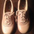 DR SCHOLLS LGT BROWN LEATHER LACE UP OXFORD SHOES WOMEN'S SIZE 6.5W MRSP $49