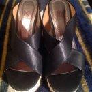 Kayleen By Los Angeles BLACK Wedge Shoes - Women's US Sz 6M OPEN TOE MRSP $89