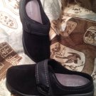EASY SPIRIT EXPLORE24 ESELIANA WOMEN'S BLACK SUEDE MULES SHOES SIZE 7M MRSP $77