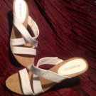 AEROSOLES CHARLOTTE Womens White Leather Strappy Heels SZ 8.5M Sandals MRSP $79