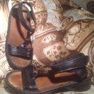 NAOT FOOTWEAR CYMBAL SANDALS WOMEN'S 6.5M 37 EU Black Madras Leather MRSP $ 169