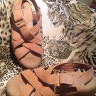 NEW EARTH SHOE Womens Sandals CEDAR HAVANA SZ 7.5M LIGHT BROWN NICE