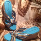 Naturalizer Aqua Multi COLORED WOMEN'S SENSITIVE SANDALS WEDGE HEELS SIZE 8.5M