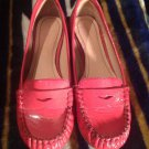 Womens Arturo Chiang MADDIEA Coral Patent Leather Loafers Flats Shoes Sz 6M