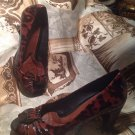 Nuture Women's DRAKE ANIMAL PRINT BROWN OPEN TOE Leather Pumps HEELS Size 7.5M