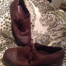 I Love Comfort BROWN Leather Oxfords w/ Side Ties Women's SHOES Size 8.5M