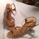 Panita Women's Ankle Strap Leather Sandals SZ 7.5M Brown Made Brazil MRSP $168