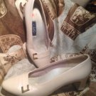 SELBY WOMEN'S COMFORT FLEX SHOES PEARL GENUINE LEATHER UPPER HEELS PUMPS 8M