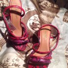 NEW WOMEN'S FOREVER SELECTED BY PAULA ABDUL EXOTIC PRINT STRAPPY SANDALS SIZE 9M