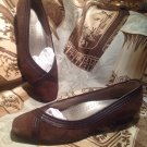 Women's Mark Lemp Classics SUEDE LEATHER BROWN Pumps Heels Shoes Size US 6.5M