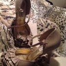"Steve Madden ""TALISA"" Champagne Open-Ruffle Toe Dress Pump Women's Size 9M"