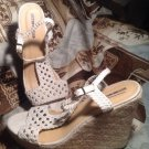 WOMEN'S MOSSIMO SUPPLY CO. WANETA WEDGE CROCHETED SANDALS NATURAL SIZE 11M SHOES