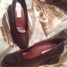NICKELS SOFT WOMEN'S SIZE 6M BROWN SQUARE TOE LEATHER UPPER SHOES PUMPS MRSP $88