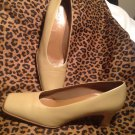 LIFE STRIDE LS STUDIO WOMEN'S LIGHT BROWN LEATHER UPPER HEELS SIZE 8M MRSP $72