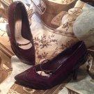 WOMEN'S DANA BUCHMAN SAGEBURGANDY BUCKLE MARY JANE DRESS Casual Shoes SIZE 6.5M