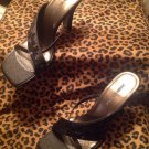 Jasmin New York WOMEN'S Shoes Black Sequins Dressy High Heels Sandals Size 8.5B