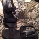 WOMENS BLACK LINDSAY 2 MADELINE SLINGBACK SANDALS COMFORT HEELS SHOES SIZE 9.5M