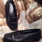 "KIM ROGERS ""CAROLYN"" WOMENS SIZE 7.5M BLACK  LEATHER SHOES LOAFERS SQUARE TOE"