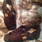 STUDIO BY Life Stride CRISS CROSS BROWN Women's Shoes Sandals Open Toe Size 9M