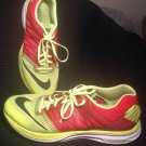 NIKE LUNAR SPEED MEN'S SHOES SZ 10.5D NEON YELLOW CHERRY RED RUNNING LUNARLON
