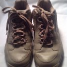 Ryka Walking Comfort Shoes Sneakers Tan Leather 9M Catalyst Plus NITRACEL