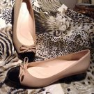 NEW Tahari Sz 8M Maisy Black Beige Cap Toe Pumps Womens Heels Shoes MRSP $65