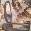 WOMEN'S SAS METALLIC PEWTER PENNY LOAFERS COMFORT CASUAL SHOES SIZE 6S