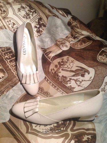 SIAMANTO BIEGE W/ GOLD WOMEN'S Low Heel Pumps W/FLAP SIZE 5N LEATHER MRSP $84