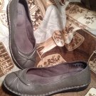 I LOVE COMFORT NOBLE GRAY LEATHER SLIP ON FLATS LOAFERS CASUAL SHOES SIZE 7M