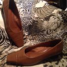 "LIFESTRIDE Women's Leather Pumps HEELS SHOES Size 7.5M  BROWN ""Rayburn"" MRSP $68"