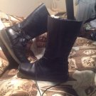 M.O.D. My Own Direction Leather Boots Zipper SIZE 9M WOMEN'S BLACK MRSP $128