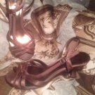 UNLISTED LOVE POTION WOMEN'S FABRIC UPPER BROWN STRAPPY SANDALS SHOES SIZE 8.5M