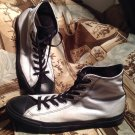 CONVERSE ALL STAR CHUCK TAYLOR SNEAKERS WHITE WITH BLACK TONGUE W 10.5M M 8.5M