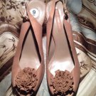 BANDOLINO HITHER BROWN LEATHER WOMEN'S FLOWER SANDALS SLINGBACKS 9M MSRP $89
