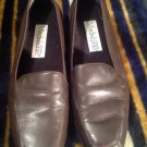 Womens Madeline Stuart Whistle Brown Leather Loafer Comfort Shoes Excellent 8M