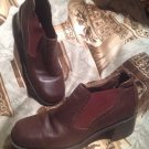 "DANEXX PINTO  BROWN WOMEN'S LEATHER SZ 8.5M ANKLE HEEL BOOTS/BOOTIES 21/4"" HEELS"